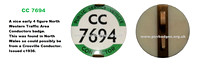 CC 7694 Early issue badge c1936