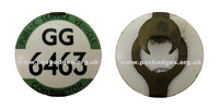 GG 6463 Early issue Metrovic Traffolyte badge with a Horseshoe fastening
