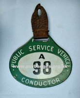 A 98 A very early enamel badge. These were replaced in 1935 with the more familiar round badge