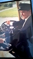 Driver Malcolm Moore seen here behind the wheel of a United Automobiles Bristol Re or VR.