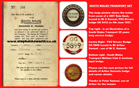 GG 5899 issued to Arthur Samuel of South Wales Transport Co. Ltd.