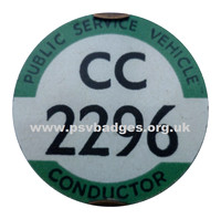 CC 2296 Early issue c1935 badge. The 1296th badge issued.