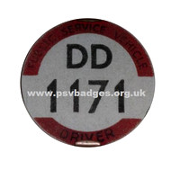 DD 1171 1935 very early issue badge. The 171st badge issued.