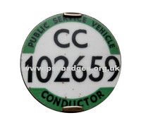 CC 102659 Large font 6 figure badge. Only CC and N Cond badges were issued with this style.