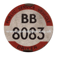BB 8083 Early issue badge c1936.