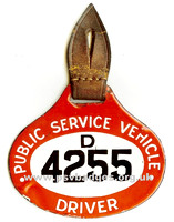 D 4255 Enamel hanging badge issued between 1931 and the end of 1934. Thanks to Simon Kaye.